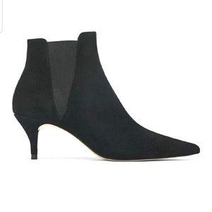 NWT Zara heel black kitty ankle boots